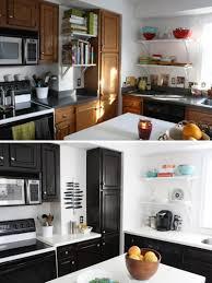 Updating Oak Kitchen Cabinets Beautiful Updating Oak Kitchen Cabinets Before And After Kitchen
