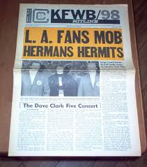 Pop Charts 1965 Kfwb Hitline Magazine 1965 Hermans Hermits Dave Clark 5 Donovan Sonny Cher Charts Vintage Classic Rock And Roll Music Original Teen 60s