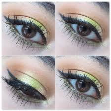 makeup geek foiled eyeshadow limelight eye swatches