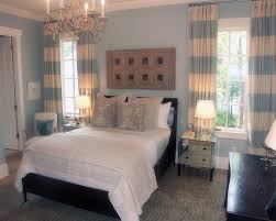 Light Blue Bedroom Curtains Light Blue And White Striped Curtains Free Image
