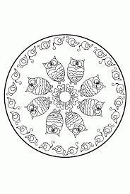 Uilen Mandala Idee Kleurplaten Mandala Winter20 Beste Kleurplaten