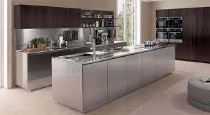 modern contemporary italian kitchen furniture design. satin stainless steel contemporary italian kitchen euromobil modern handleless fitted cabinets design furniture