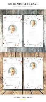 Memorial Card Template Remembrance Cards Template Free Demiks Co