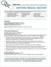 Physician Assistant Resumes Unique Resume Certified Medical Administrative Assistant Resume