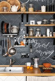 Modern Kitchen Shelves Design Design Of Modern Kitchen In Loft And Rustic Style Wooden