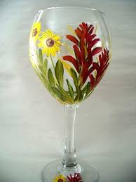 painting on wine glasses hand painted daisy and paintbrush with nail polish diy easy ideas for