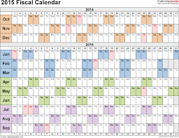 Financial Year Fiscal Calendars 2015 As Free Printable Pdf Templates