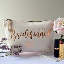 personalised bridesmaid make up bag by the alphabet gift notonthehighstreet