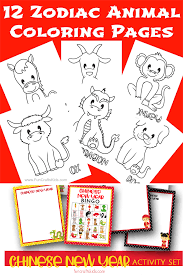 You should also check and follow us on pinterest. 12 Free Printable Chinese Zodiac Coloring Pages Fun Crafts Kids