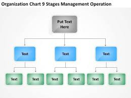 Operation Organization Chart Organization Chart 9 Stages Management Operation Ppt How To