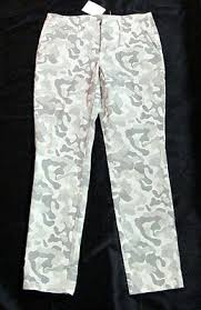 Victorias Secret The Washed Chino Pant Camo Green Size 2