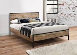industrial metal bed frame. Contemporary Metal Image Is Loading BirleaUrbanIndustrialChic5FTKingsizeBedFrame To Industrial Metal Bed Frame A