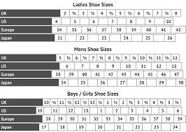 Uk American Shoe Size Conversion Chart 21 Rational American To Uk Sizes