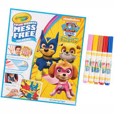 crayola nickelodeon paw patrol super pups color wonder mess free coloring kit 23 pc pack com