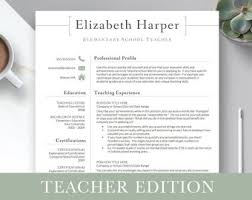 It Teacher Resume Teacher Resume Etsy