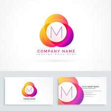 Letter M Logo With Business Card Template Download Free Vector Art