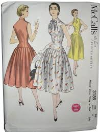 Retro Dress Patterns Magnificent Uncut McCall's 48 48s Vintage Dress Pattern Dressing Vintage