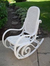 bentwood rocker maybe i should paint the entire thing white before adding cushions