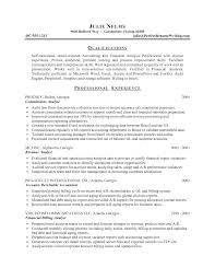 Prepossessing Professional Resume Examples Finance On Financial