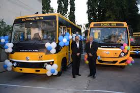 new car launches in bangaloreAshok Leyland launches New MiTR Sunshine school buses in