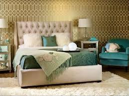 Master Bedroom Wallpaper Art Deco Master Bedroom With Interior Wallpaper Concrete Floors