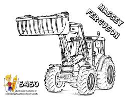 Big Boss Tractor Coloring Pages To