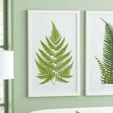 green fern wall art