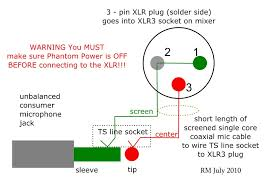 xlr to trs wiring diagram wiring diagram schematics baudetails how to wire an unbalanced microphone to a balanced xlr input
