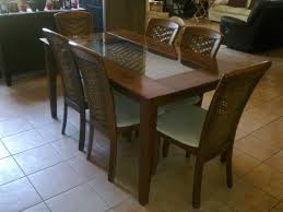 dining room great concept glass dining table. Amazing Dining Room Concept: Brilliant Modern Dark Wood Table Glass Legs Seats 6 To Great Concept N