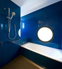 Dark Blue Bathroom Glossy Navy Blue Bathroom Design Ideas Popular Blue Bathroom