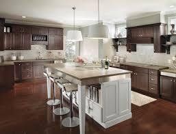 dark wood kitchen cabinets.  Dark Modern Dark Wood Kitchen Cabinets With Contrasting White Island Intended  For Prepare 18 On A