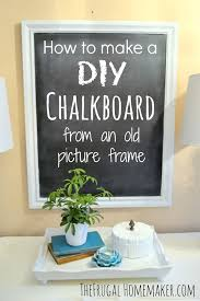 how to make a diy chalkboard from an old picture frame thumb jpg