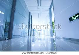 office corridor door glass. office corridor door glass stock photo