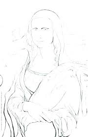 Mona Lisa Coloring Page Coloring Page Coloring Page To Print