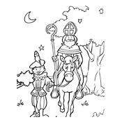 Kleurplaat Sinterklaas En Zwarte Piet 2847 Sint Paard En Piet