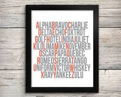 In military missions, the use of the phonetic alphabet has been used to communicate with the chain of command as to what phase of the mission has been successfully performed. Phonetic Alphabet Aviation Alphabet Print Airplane Art Aviation Nursery Decor Coral And Grey On Etsy 12 00 A Aviation Nursery Airplane Nursery Travel Nursery