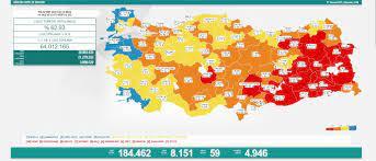 Türkiye'de koronavirüs nedeniyle son 24 saatte 59 kişi hayatını kaybetti,  tespit edilen vaka sayısı 8 bin 151 oldu