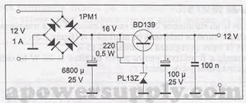 12v power supply circuits bd139 12v dc power supply