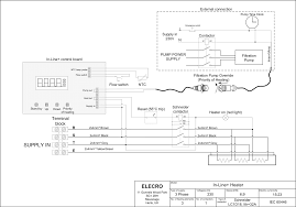 in line swimming pool heater diagram 6 kw 9 8t36dv 592 mm view