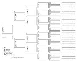6 Generation Family Tree Template With Vital Statistics