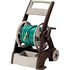 neverleak plastic 250 ft cart hose reel