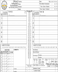 Download Volleyball Score Sheet For Free Formtemplate