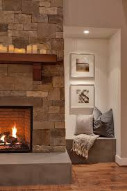 alcove seating ideas family room transitional with recessed light stone facade alcove lighting ideas
