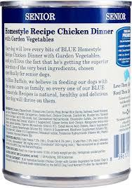 Blue Buffalo Wilderness Feeding Chart Blue Buffalo Homestyle Recipe Senior Chicken Dinner With Garden Vegetables Canned Dog Food 12 5 Oz Case Of 12