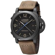panerai watches luxury watches stylish panerai men s pam00580 luminor 1950 black watch online