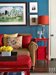 Primary Color Scheme. Red side table