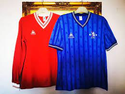 The Chelsea Factory - Home Of Chelsea FC Collectors - 1985-86 away and home @chelseafootballshirts @chelseafc 's @classicfootballshirts by @lecoqsportif | Facebook
