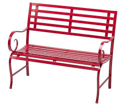 red metal indoor outdoor garden bench contemporary outdoor benches by j thomas s