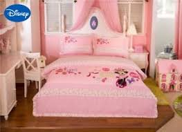 Details about Flower Minnie Mouse Bedding Set Pink Bed Linen Sheet Disney Cotton Full Queen