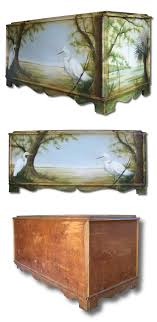 old furniture makeovers. Fine Makeovers DIY Furniture Makeover Hand Painted Cedar Chest With Lowcountry Scene Old  Furniture Makeovers And Redo Inside Makeovers